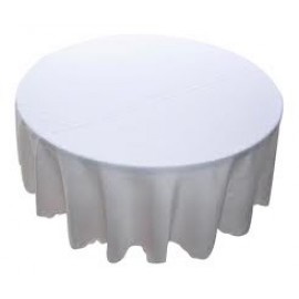 Tablecloth to Suit 90cm - 120cm Round - White