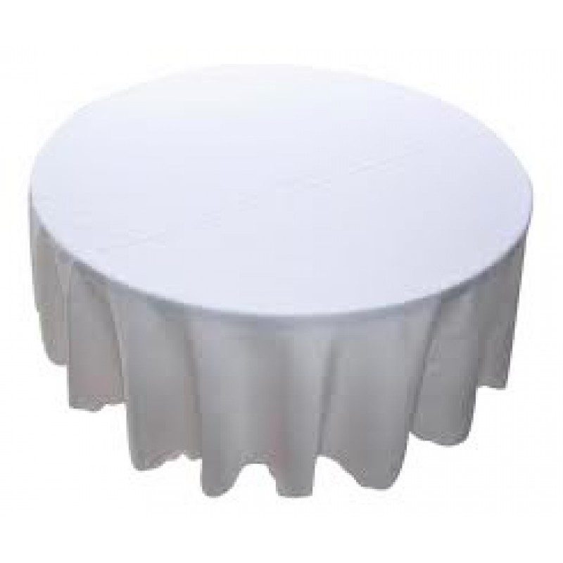 Tablecloth to Suit 1.7m - 1.8m Round - White