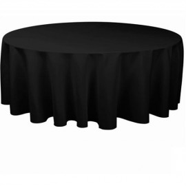 Tablecloth to Suit 1.7m - 1.8m Round - Black
