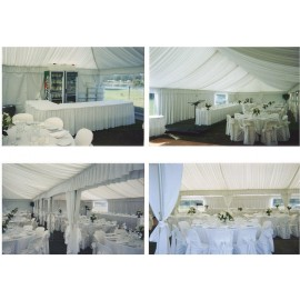 SILK LINING FOR 6M X 18M FRAME MARQUEE