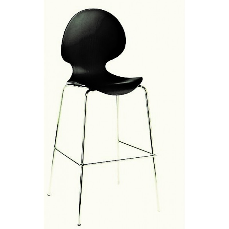 Bar Stool - Black Polyvogue / Ergoflex Bar Stool