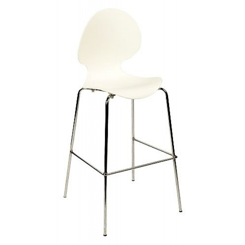 Bar Stool - White Polyvogue / Ergoflex Bar Stool