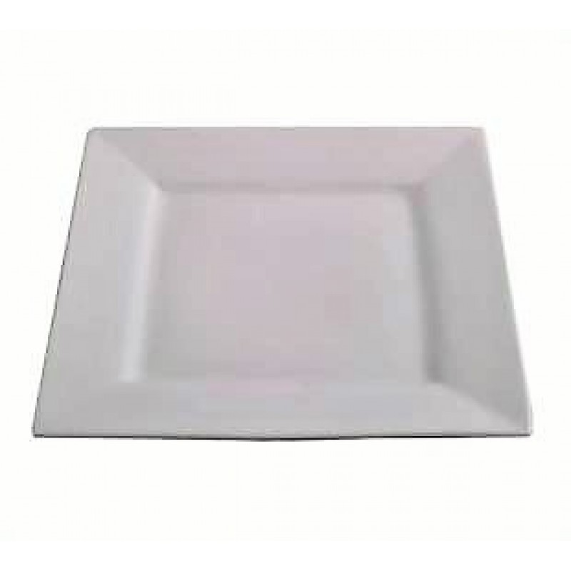 PLATTER - WHITE SQUARE CERAMIC 300mm x 300mm